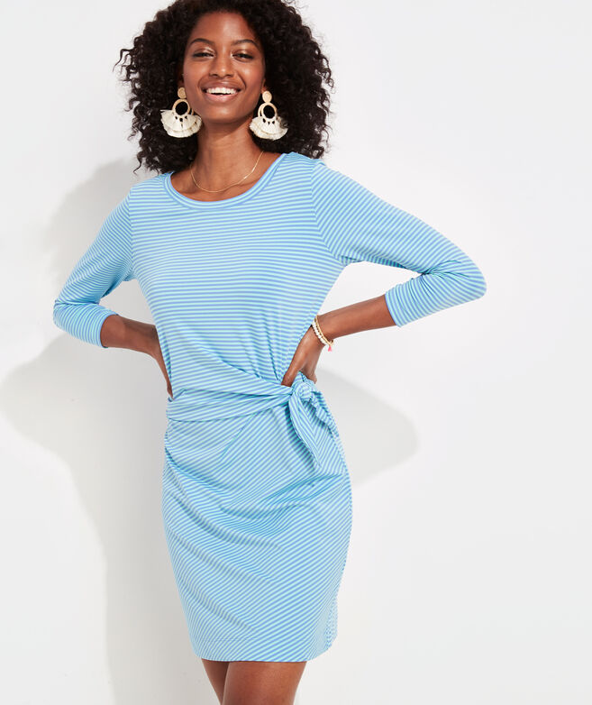 Striped Lightweight Sankaty Side-Tie Dress