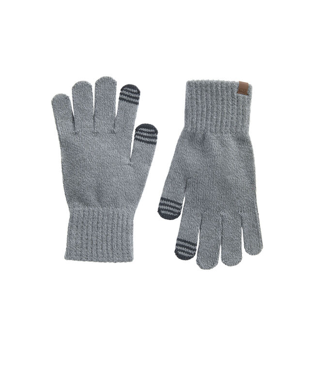 Mens Marled Yarn Texting Gloves