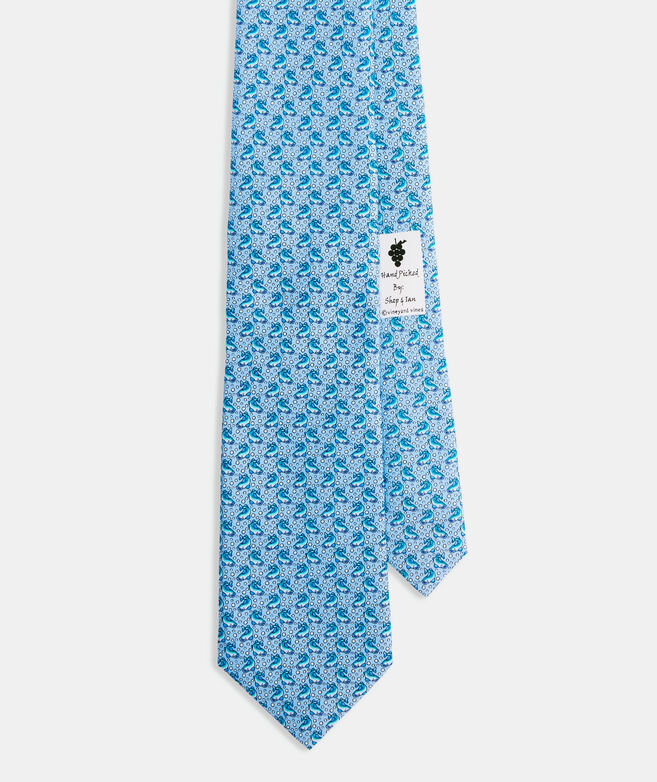 Downstream Fish Printed Tie