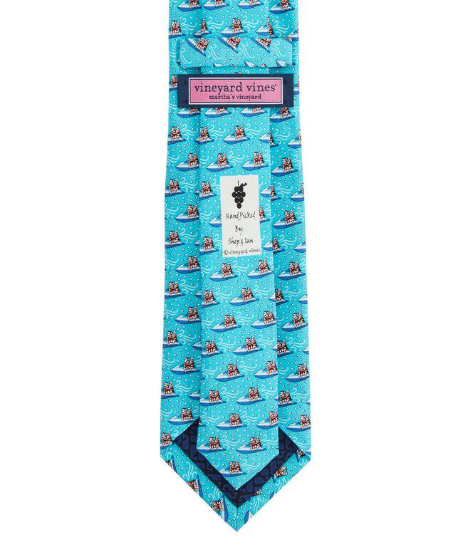 Jetskiing Clauses Printed Tie