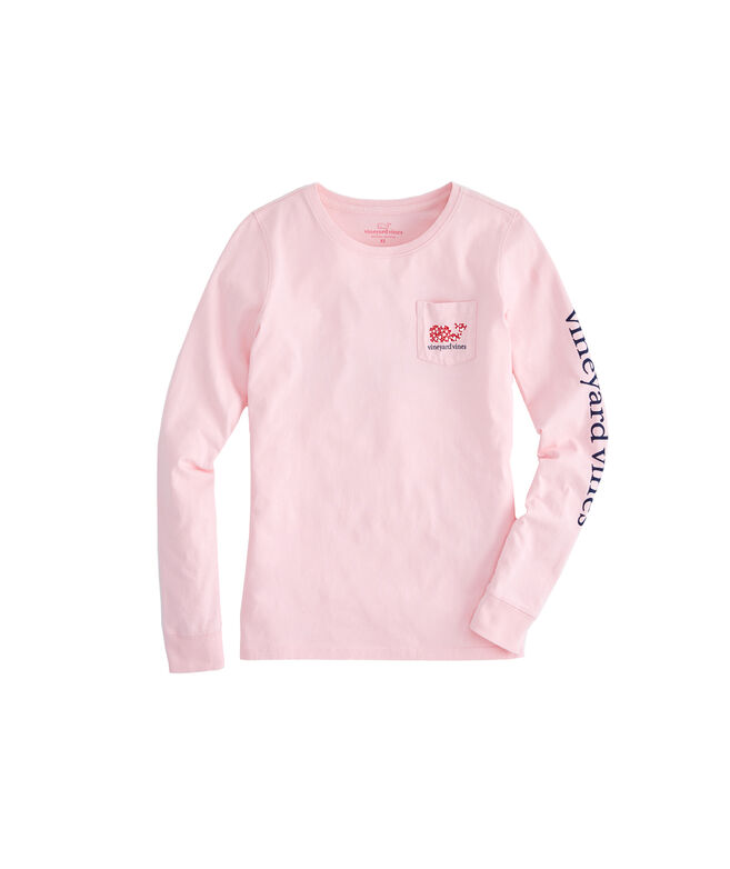 Long-Sleeve Valentine's Day Pocket Tee