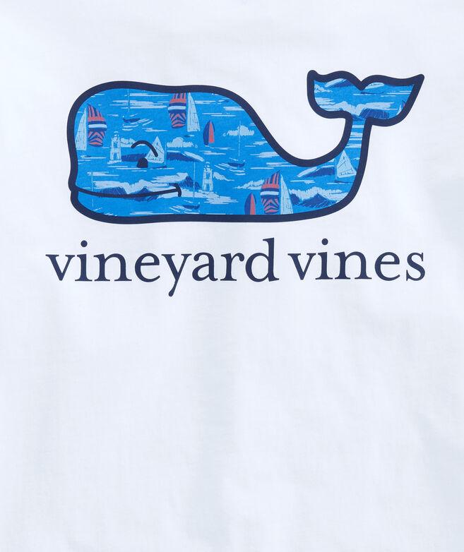 Big & Tall Vineyard Scene Whale Fill Pocket T-Shirt