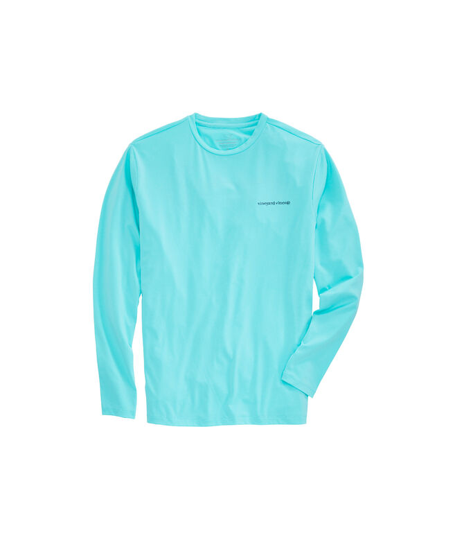 Cationic Flats Boat Long-Sleeve Performance T-Shirt