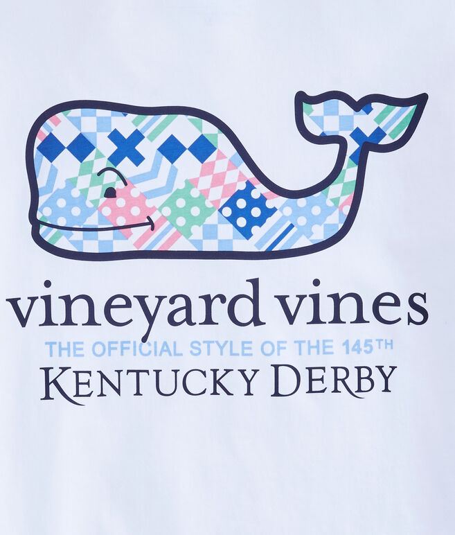 Kentucky Derby Patchwork Whale Fill Pocket T-Shirt