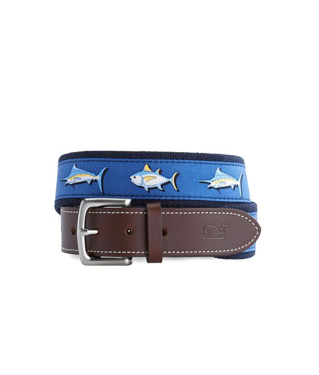 Tuna & Marlin Canvas Club Belt
