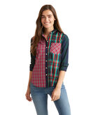 Holiday Plaid Party Relaxed Button Down
