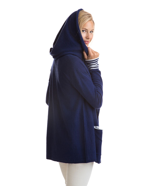 Oversized Hood Open Cardigan