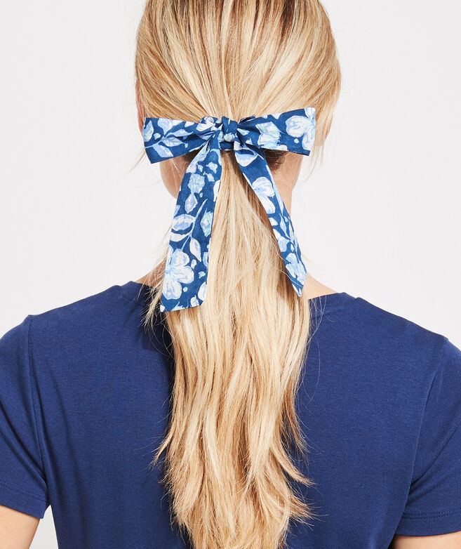 Hibiscus Floral Long Tail Scrunchie