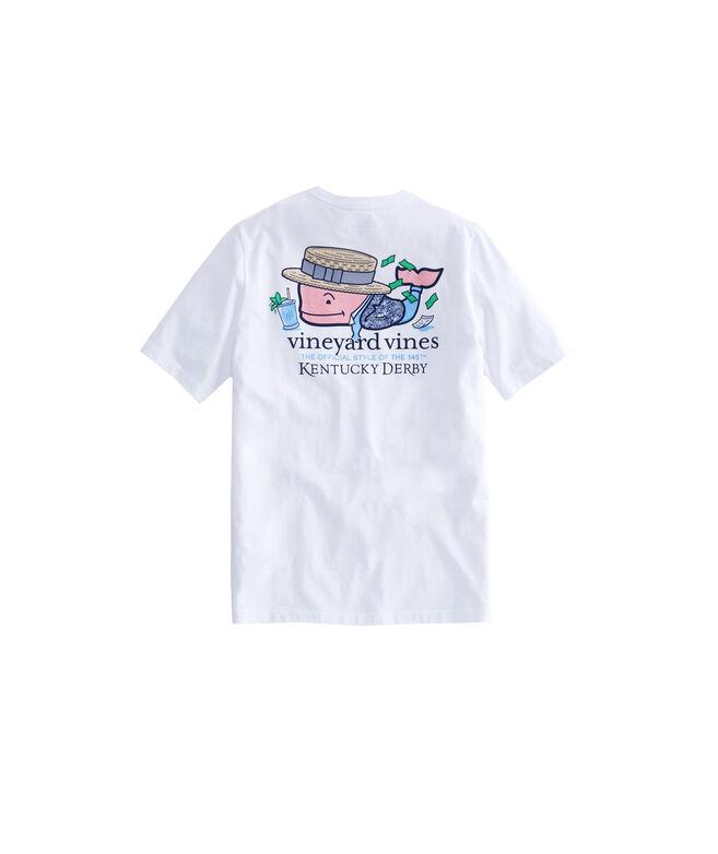 Kids Kentucky Derby Winner Whale Pocket T-Shirt