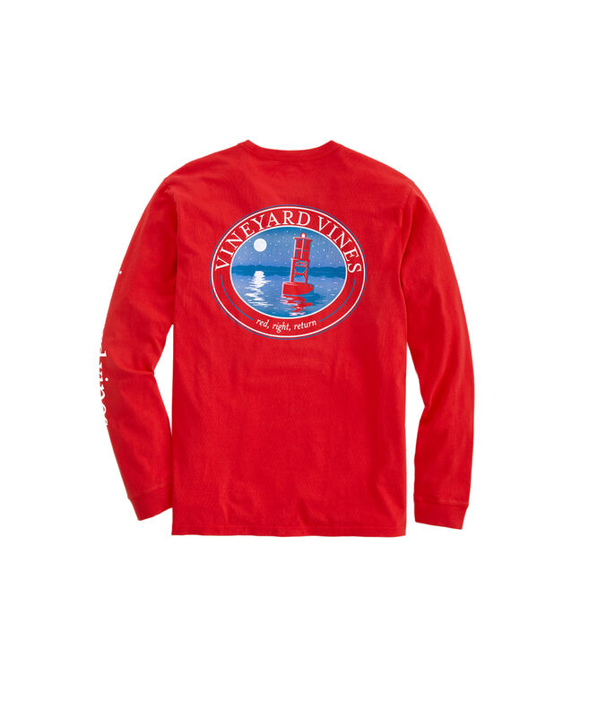 Red, Right, Return Long-Sleeve Pocket Tee