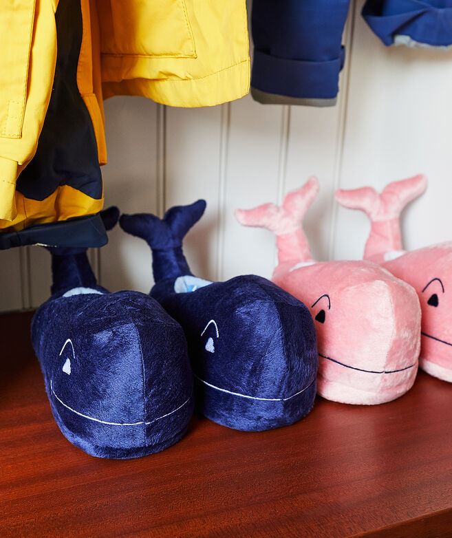 Kids' Plush Whale Slippers