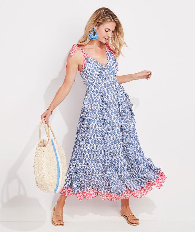 Block Print Maxi Dress