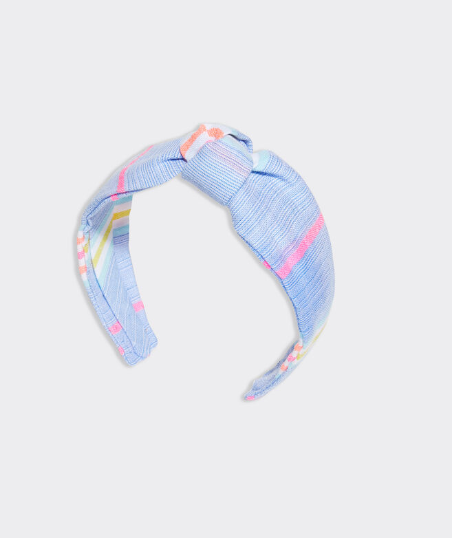 Beachy Stripe Knot Headband