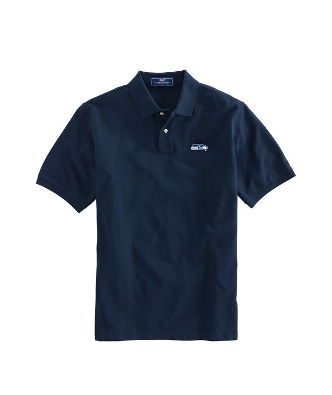 Seattle Seahawks Stretch Pique Polo