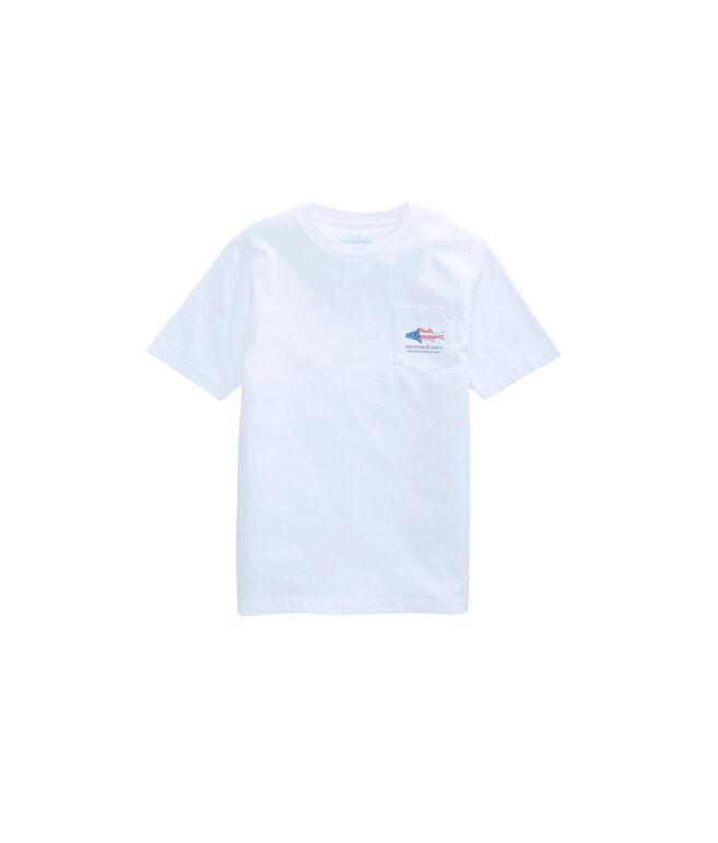 Boys Sea Bass Flag Pocket T-Shirt