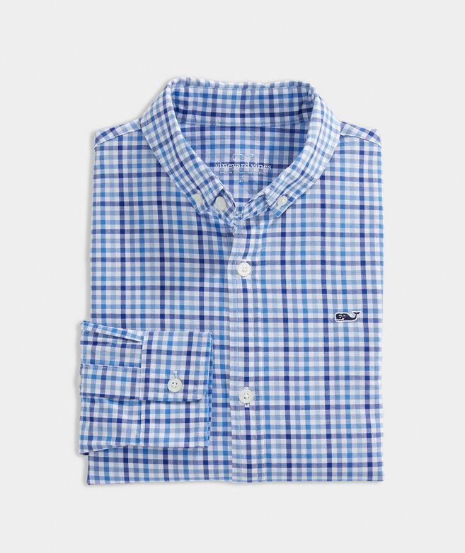 Boys' Poplin Whale Shirt