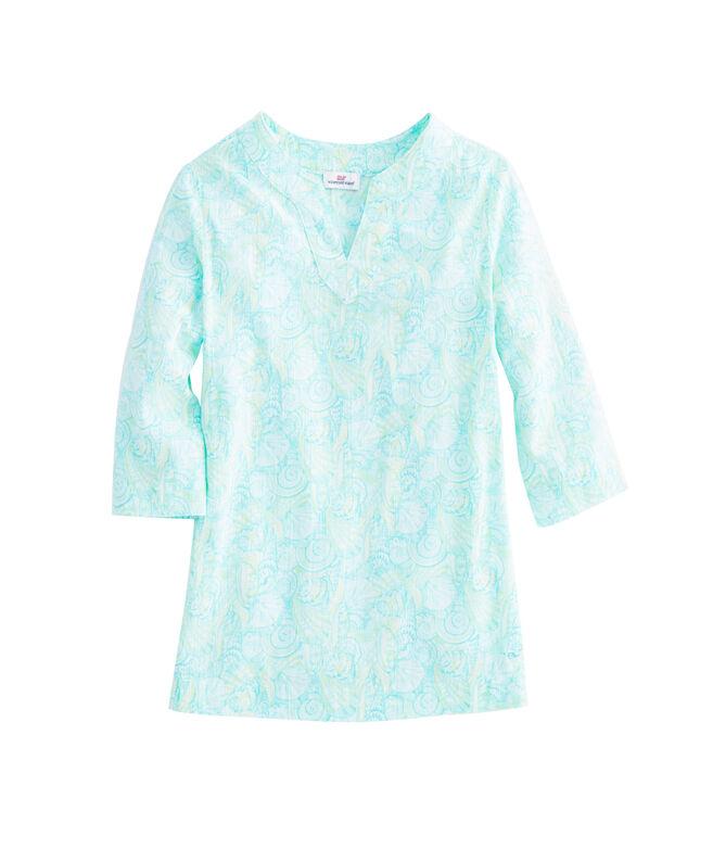 Girls Shell Print Tunic Top