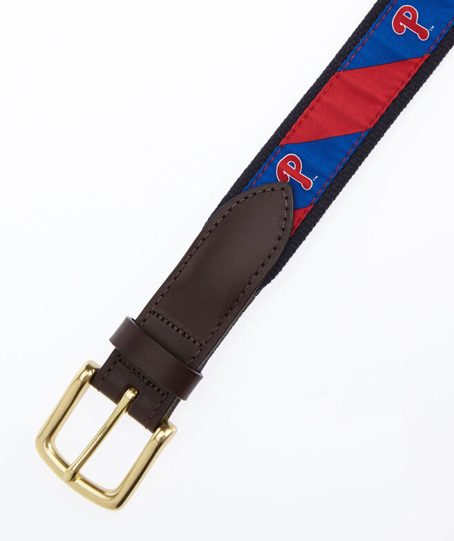 Phillies P Stripe Canvas Club Belt