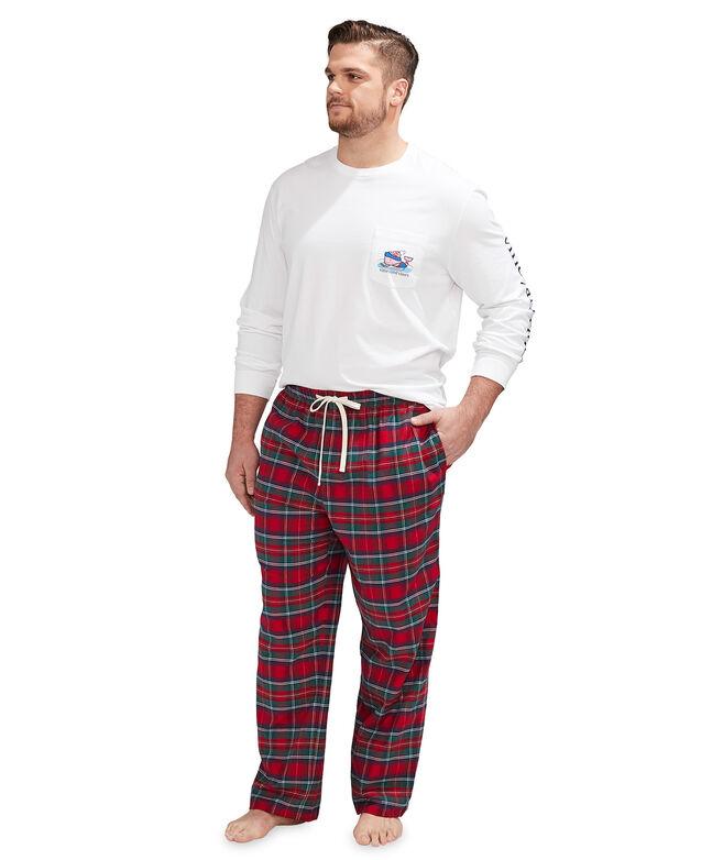 Big & Tall Plaid Flannel Lounge Pants