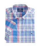 Short-Sleeve Seawall Plaid Classic Tucker Shirt