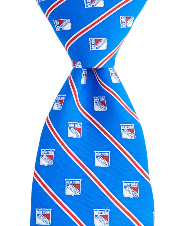 New York Rangers Rep Stripe Boys Tie