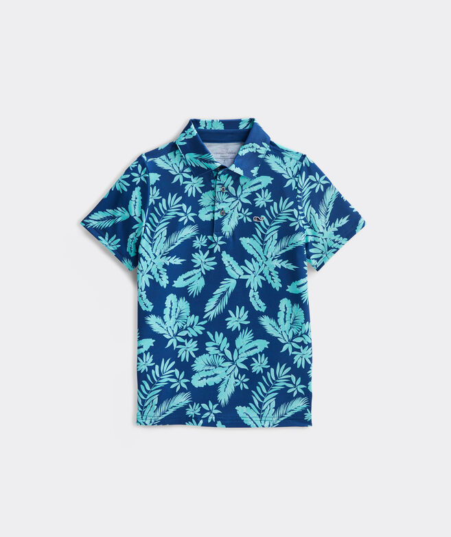 Boys' Breakers Floral Sankaty Performance Polo