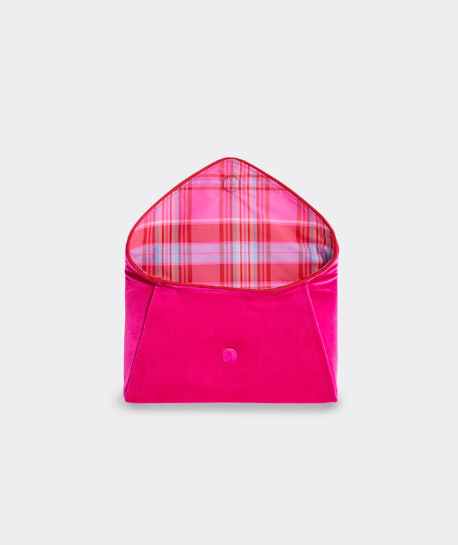vv x Tuckernuck Party Plaid Velvet Envelope Clutch