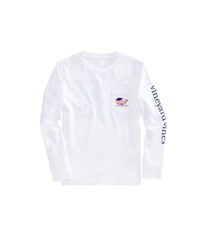 Boys Long-Sleeve Graduation Whale 2018 Pocket T-Shirt