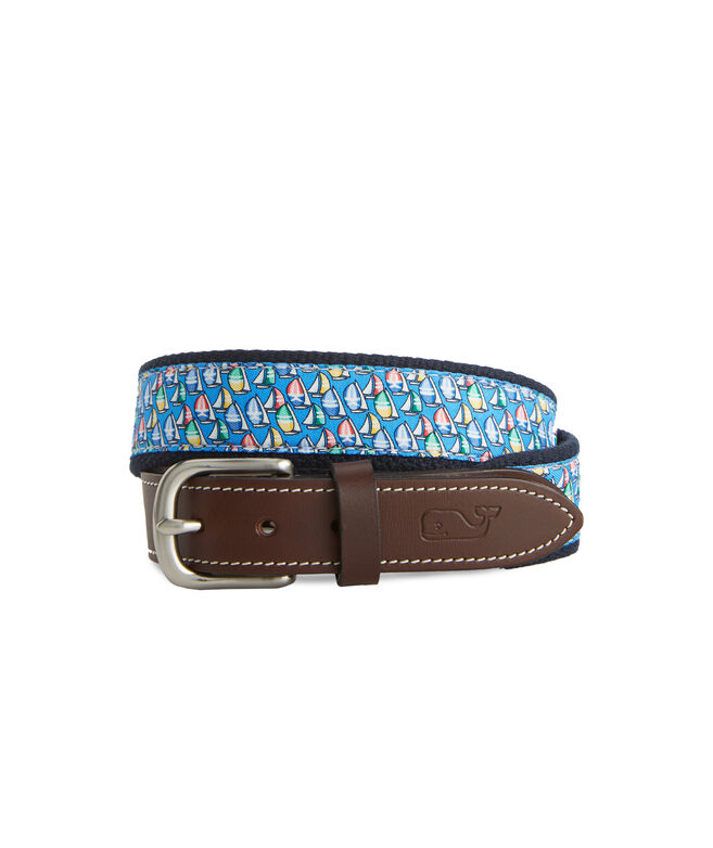 Boys Sailboats Canvas Club Belt
