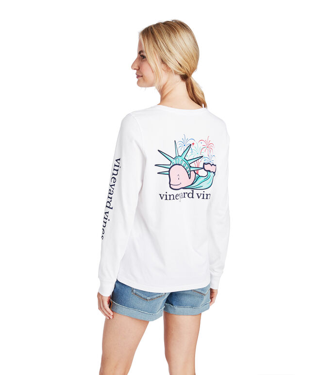 Statue Of Liberty Whale Tee