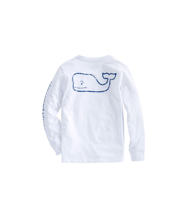 Boys Long-Sleeve Vintage Whale Edgartown T-Shirt