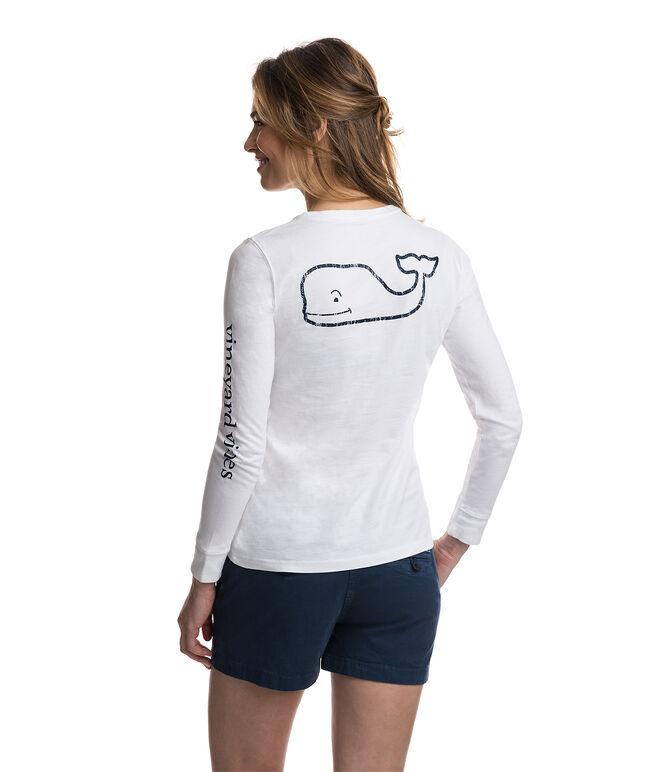 Long-Sleeve Whale Print Tee