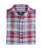 Boys Firework Plaid Whale Shirt
