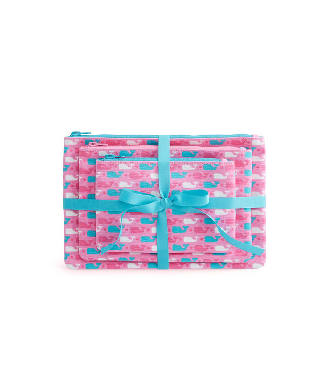 Whale Dot Cosmetic Case Set