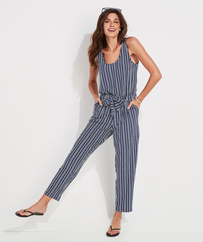Cat Cay Striped Knit Jumpsuit