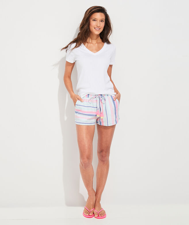 Boca Grande Stripe Pull-On Shorts