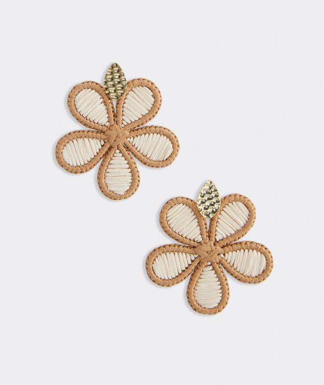 Hibiscus Basket Weave Earrings
