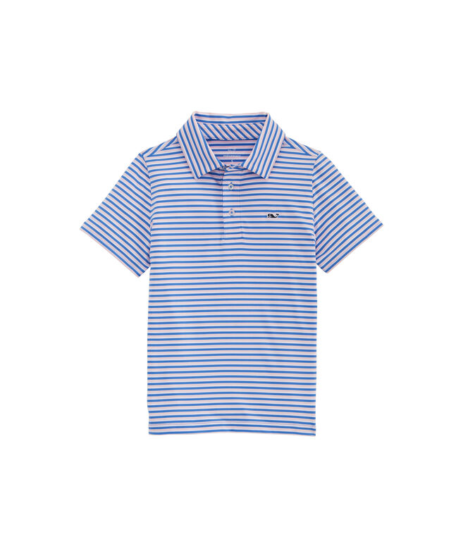 Boys Clubhouse Stripe Sankaty Performance Polo