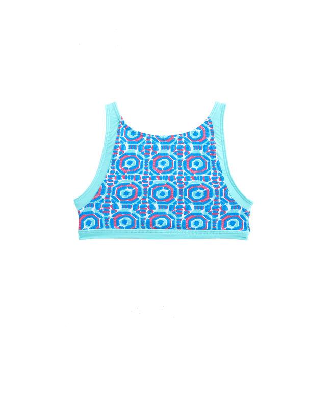 Girls Geo Umbrellas Bikini Top