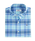 Boys Madras Plaid Whale Shirt