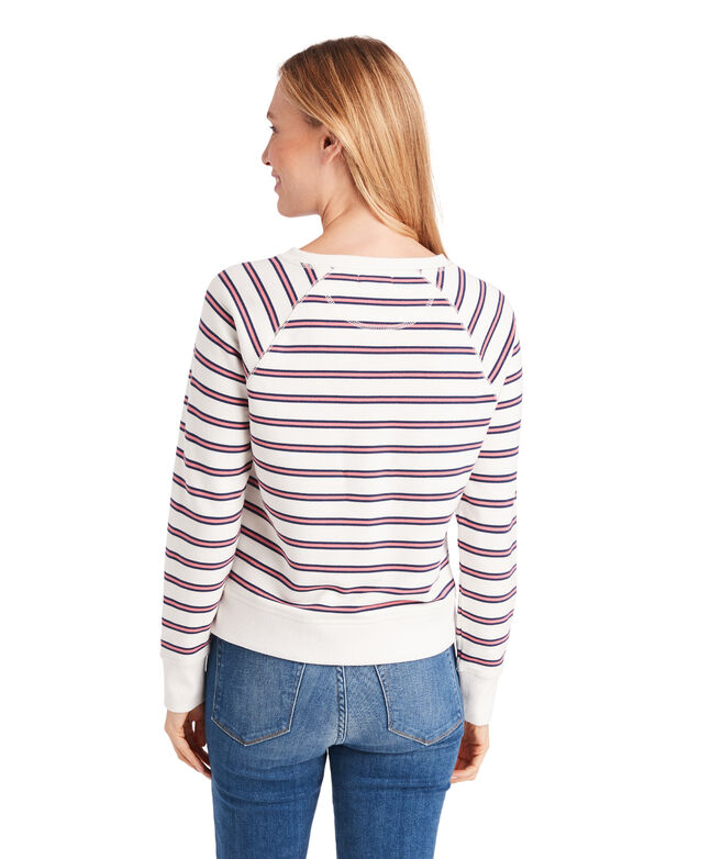 Campus Stripe Crewneck Sweatshirt