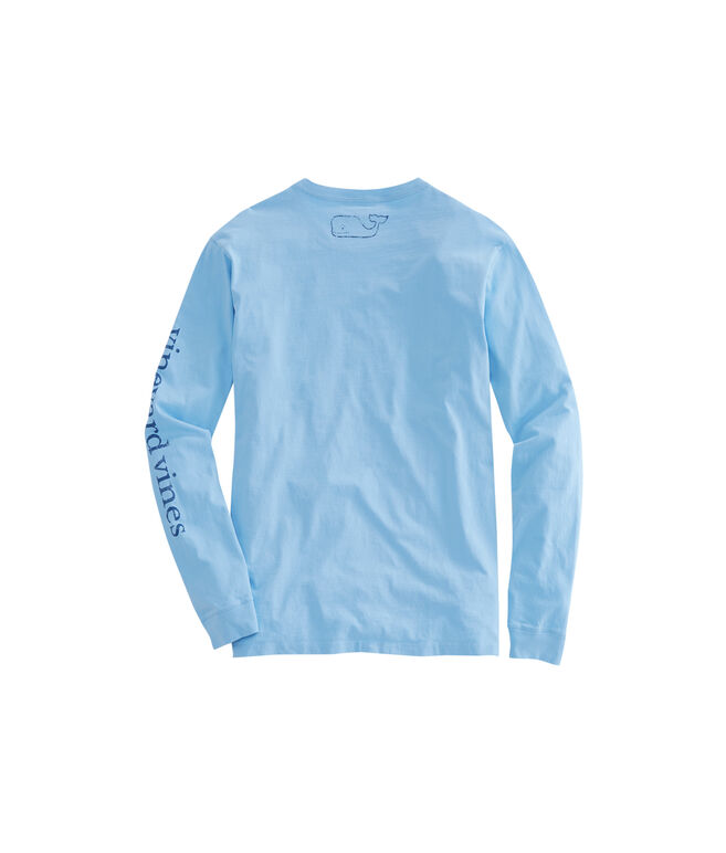 Long-Sleeve Vintage Whale Logo Pocket T-Shirt