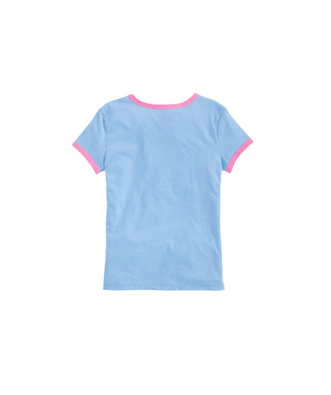 Girls Every Day Is Saturday Ringer Tee