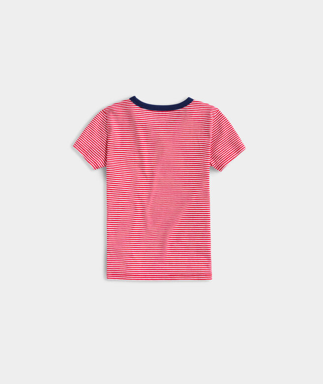 Girls' Saturday is Everyday Short-Sleeve Ringer Tee