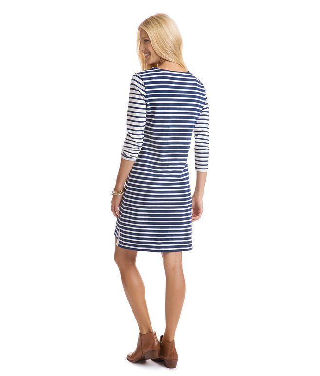 Mixed Stripe Knit Dress