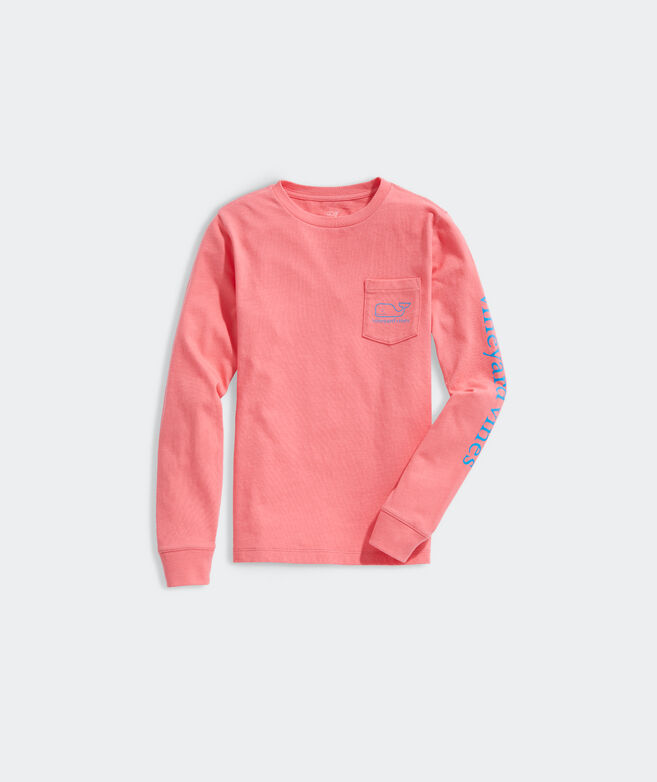 Boys' Glow In The Dark Whale Long-Sleeve Pocket Tee