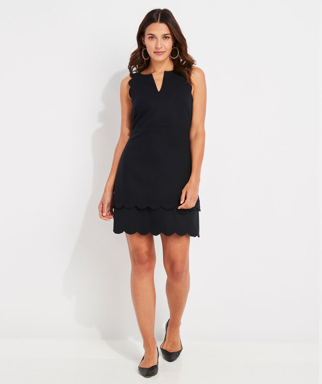 Scalloped Ponte Dress