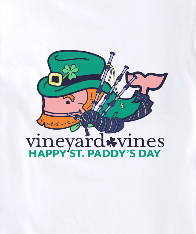 Boys' St. Paddy's Bagpiper Whale Long-Sleeve Pocket Tee