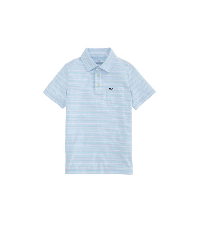 Boys' Colony Stripe Edgartown Polo
