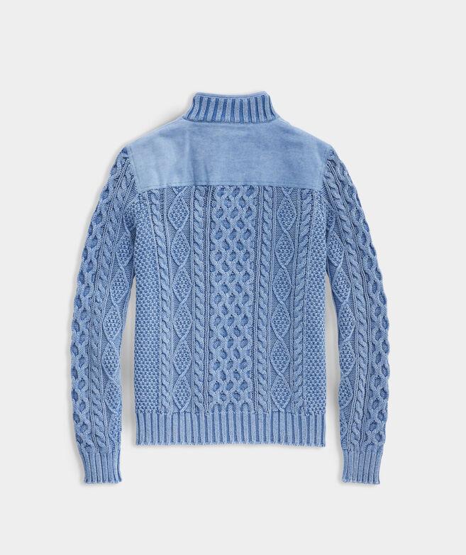 Garment-Dyed Shep Shoulder Sweater